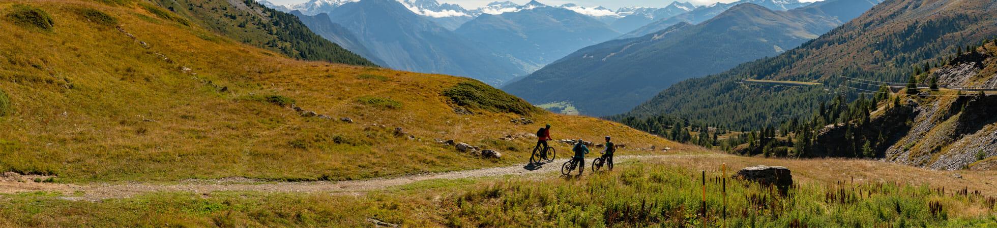 Vacances sportives VTT parc national Suisse