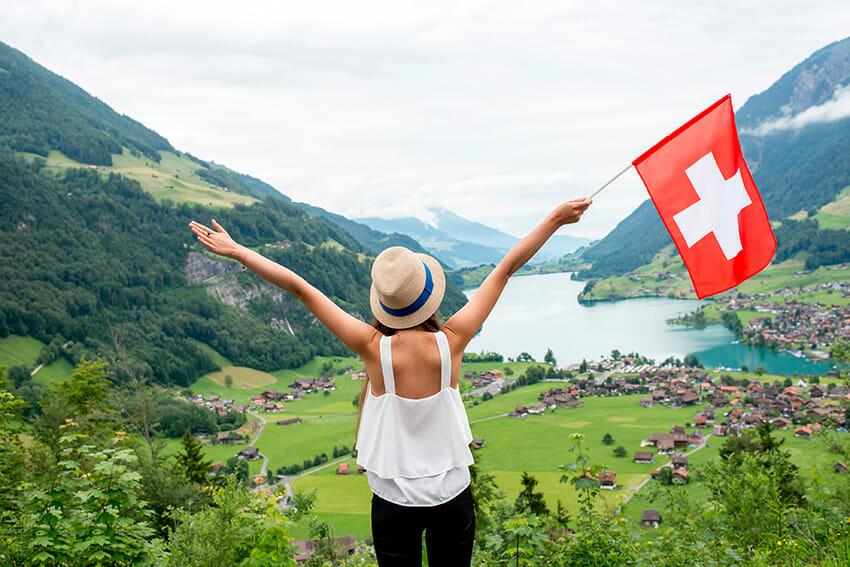 Lac de Lugano vue panoramique