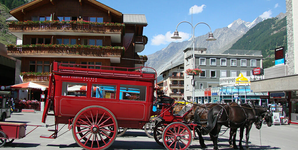 Village de zermatt en Swiss