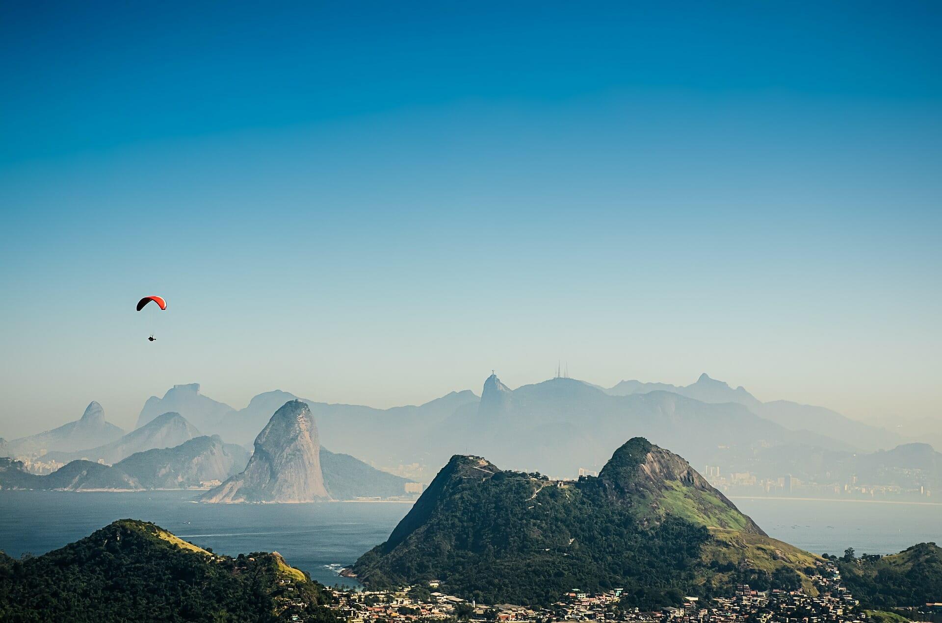 Rio de Janeiro, vol en parapente
